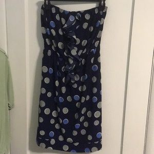 Strapless polka dot Banana Republic dress 4 EUC